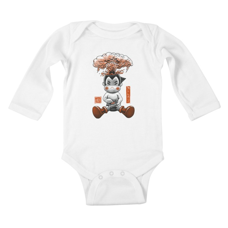 Atom Boy Kids Baby Longsleeve Bodysuit by vincenttrinidad's Artist Shop