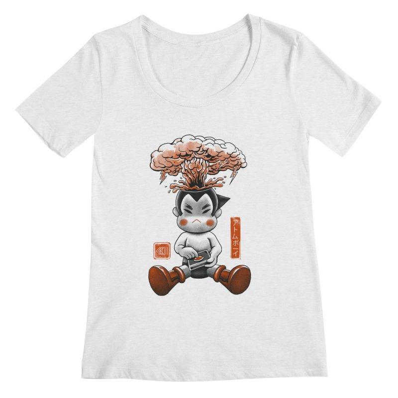 Atom Boy Women's Scoopneck by vincenttrinidad's Artist Shop