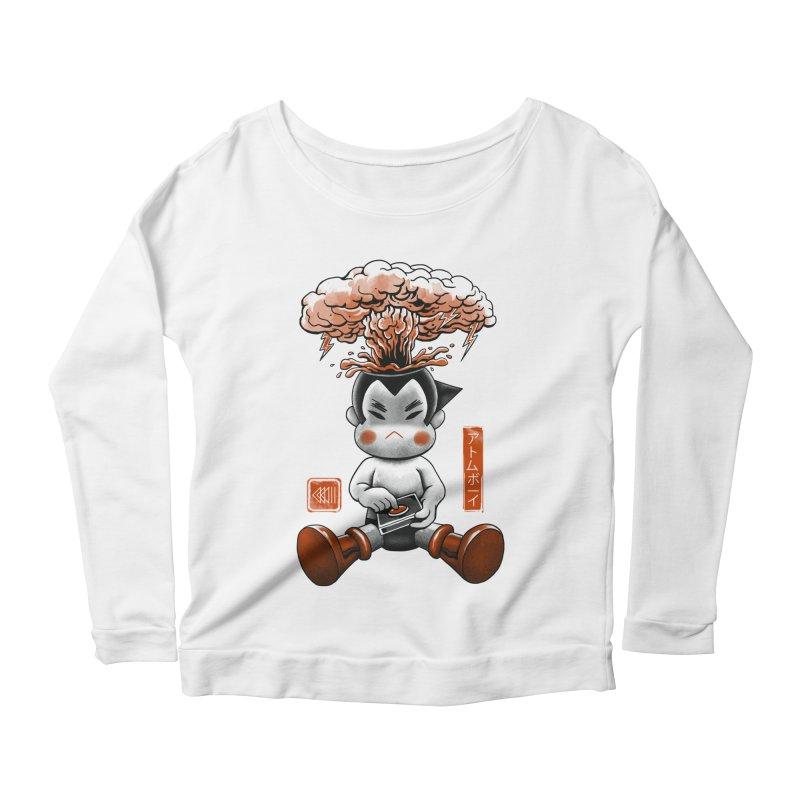 Atom Boy Women's Longsleeve Scoopneck  by vincenttrinidad's Artist Shop
