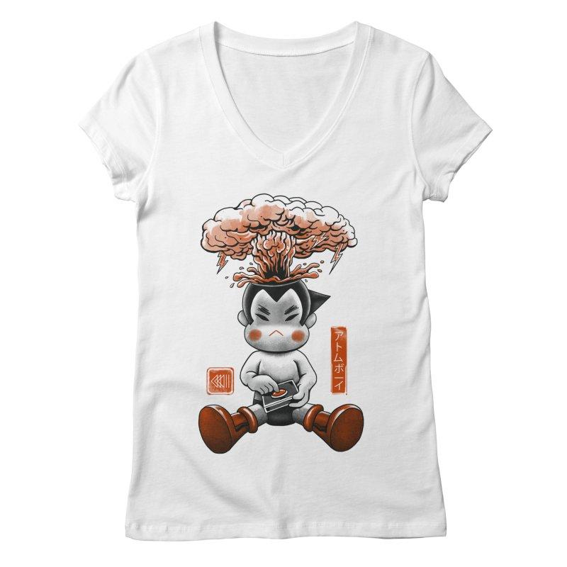 Atom Boy Women's V-Neck by vincenttrinidad's Artist Shop
