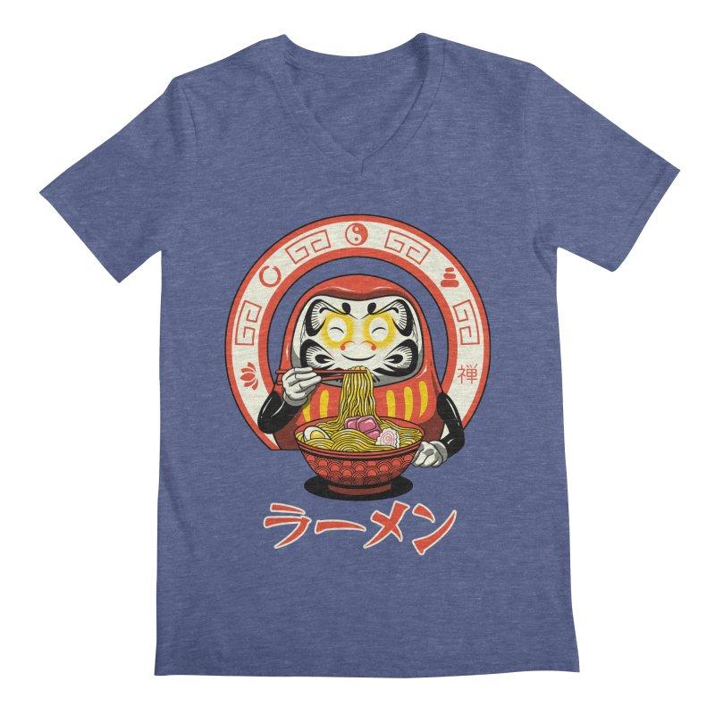 Daruma Zen Ramen Men's V-Neck by vincenttrinidad's Artist Shop