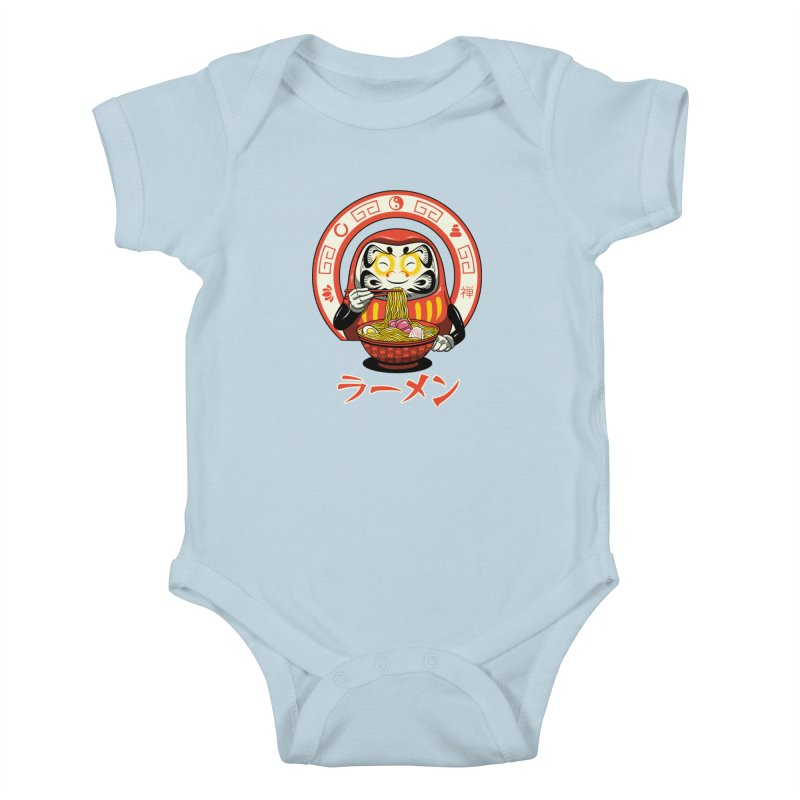 Daruma Zen Ramen Kids Baby Bodysuit by vincenttrinidad's Artist Shop