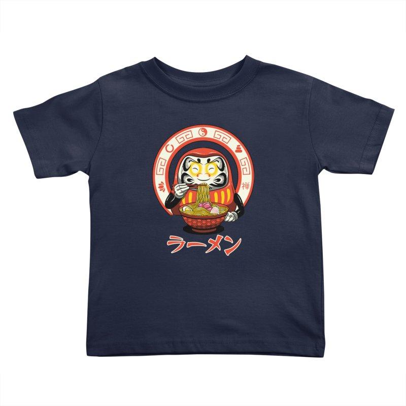 Daruma Zen Ramen Kids Toddler T-Shirt by vincenttrinidad's Artist Shop