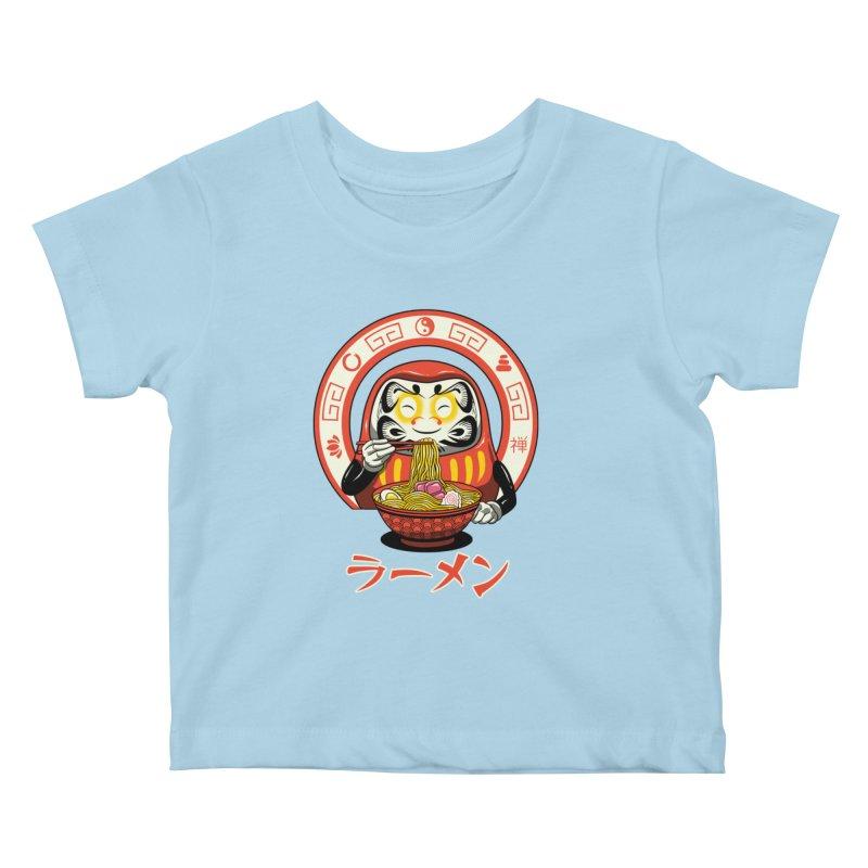 Daruma Zen Ramen Kids Baby T-Shirt by vincenttrinidad's Artist Shop