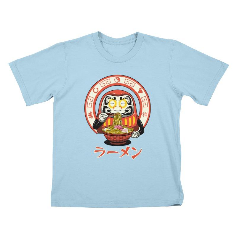 Daruma Zen Ramen Kids T-Shirt by vincenttrinidad's Artist Shop
