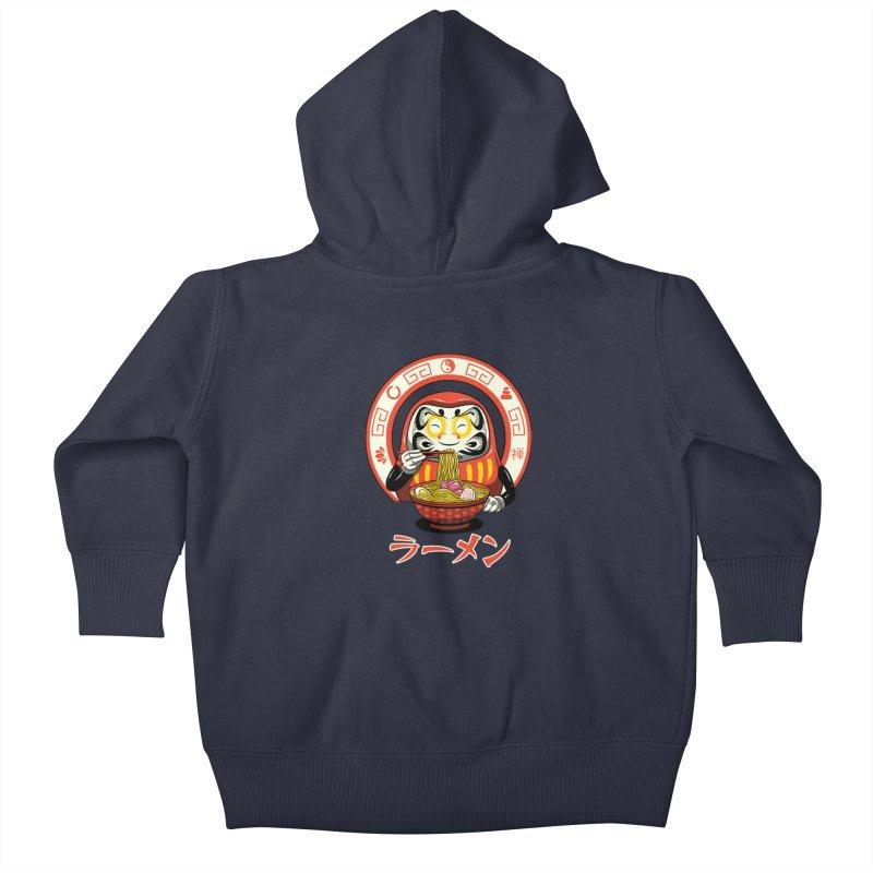 Daruma Zen Ramen Kids Baby Zip-Up Hoody by vincenttrinidad's Artist Shop
