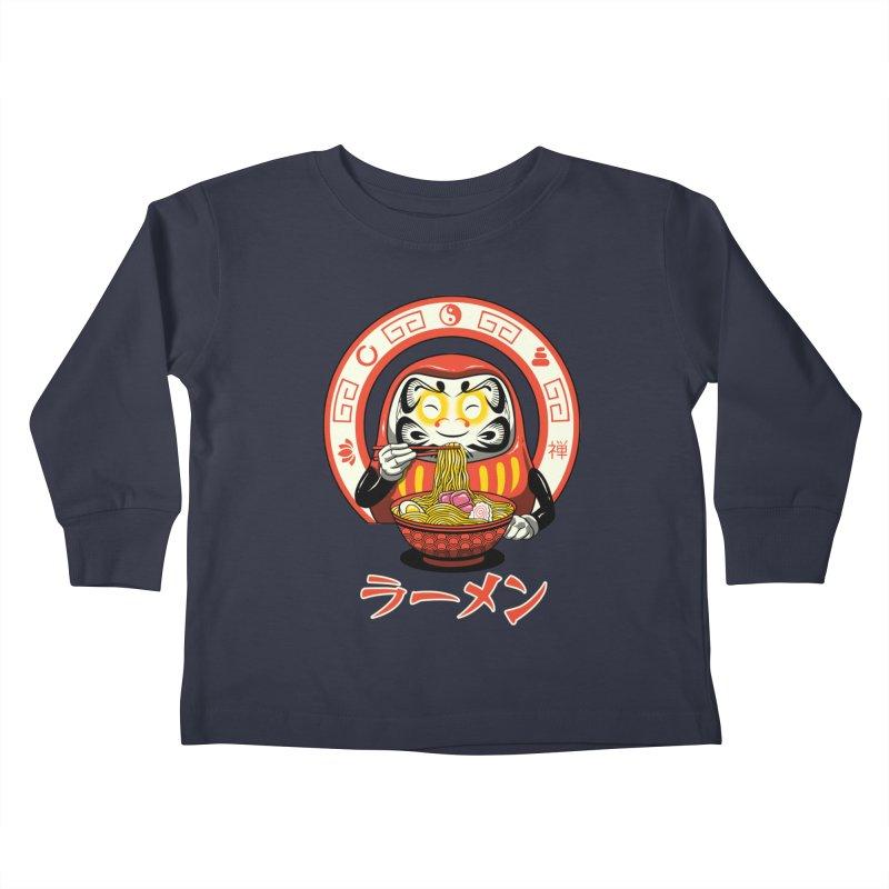 Daruma Zen Ramen Kids Toddler Longsleeve T-Shirt by vincenttrinidad's Artist Shop