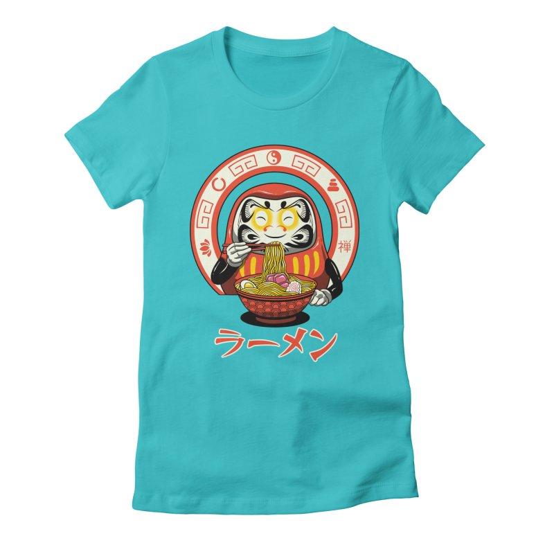 Daruma Zen Ramen Women's Fitted T-Shirt by vincenttrinidad's Artist Shop