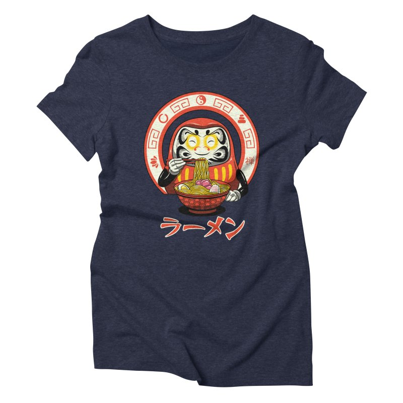 Daruma Zen Ramen Women's Triblend T-Shirt by vincenttrinidad's Artist Shop