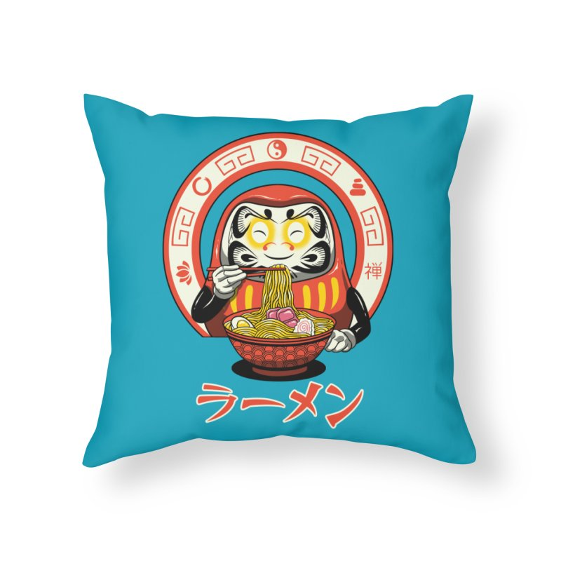 Daruma Zen Ramen Home Throw Pillow by vincenttrinidad's Artist Shop