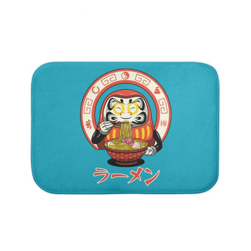 Daruma Zen Ramen Home Bath Mat by vincenttrinidad's Artist Shop