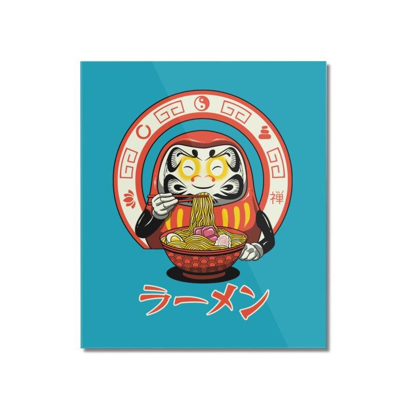 Daruma Zen Ramen Home Mounted Acrylic Print by vincenttrinidad's Artist Shop