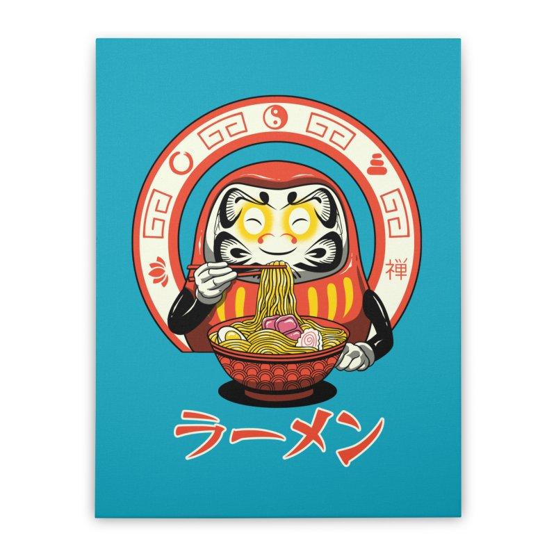 Daruma Zen Ramen Home Stretched Canvas by vincenttrinidad's Artist Shop