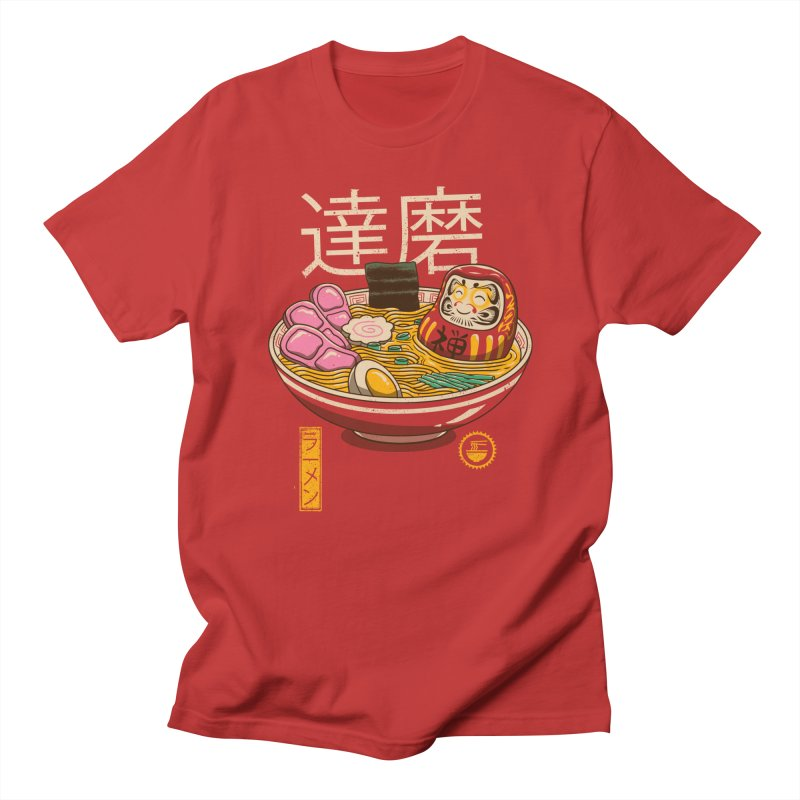 Zen Ramen in Men's Regular T-Shirt Red by vincenttrinidad's Artist Shop