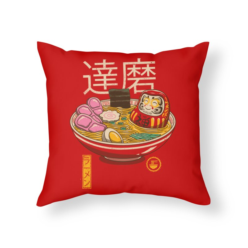 Zen Ramen Home Throw Pillow by vincenttrinidad's Artist Shop