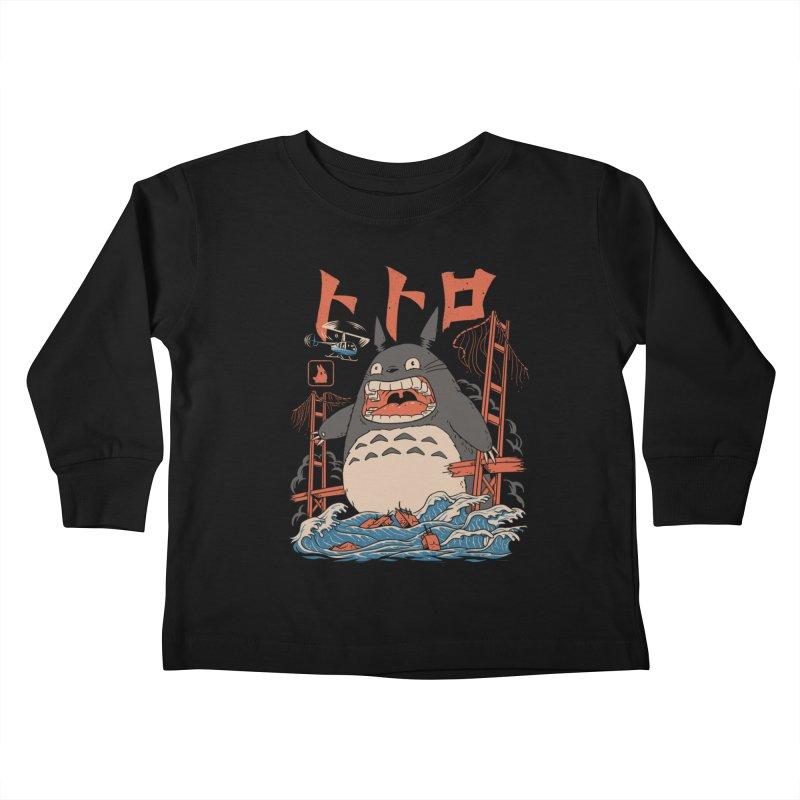 The Neighbor's Attack Kids Toddler Longsleeve T-Shirt by Vincent Trinidad Art