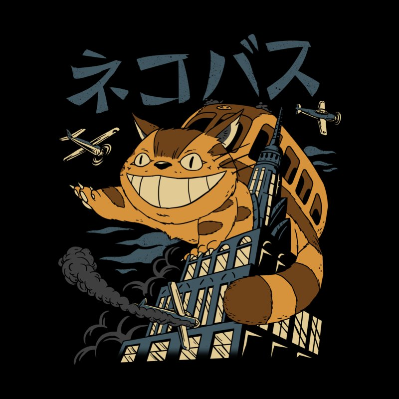 Cat Bus Kong Women's T-Shirt by Vincent Trinidad Art
