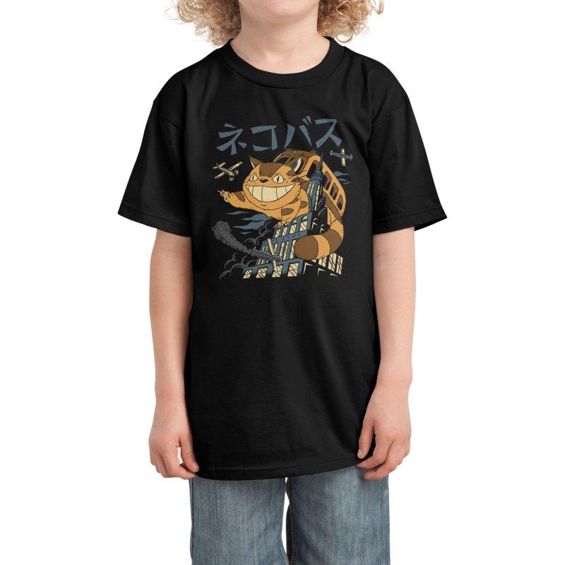 Cat Bus Kong Kids T-Shirt by Vincent Trinidad Art