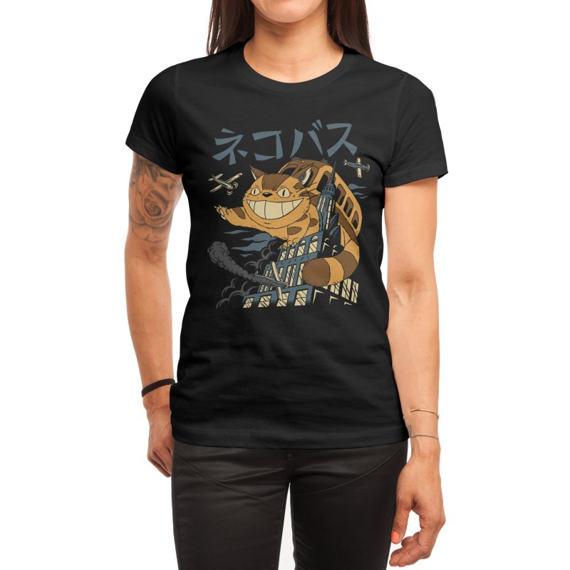Cat Bus Kong Women's T-Shirt by Vincent Trinidad Art