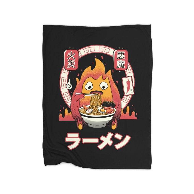 Fire Demon Ramen Home Blanket by vincenttrinidad's Artist Shop