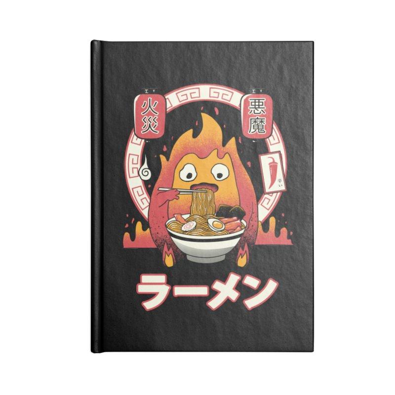 Fire Demon Ramen Accessories Notebook by vincenttrinidad's Artist Shop
