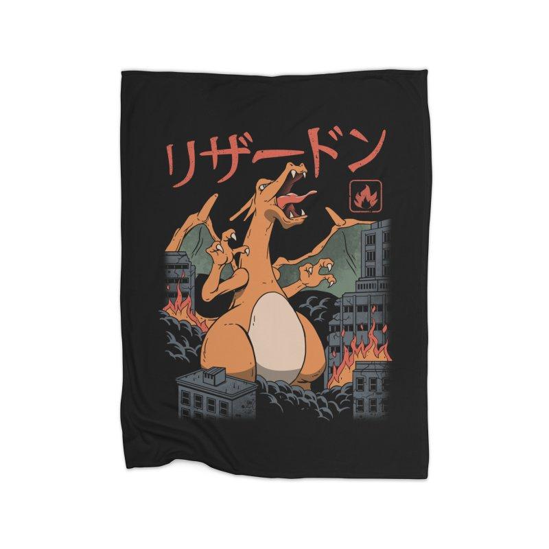 Fire Kaiju Home Blanket by vincenttrinidad's Artist Shop