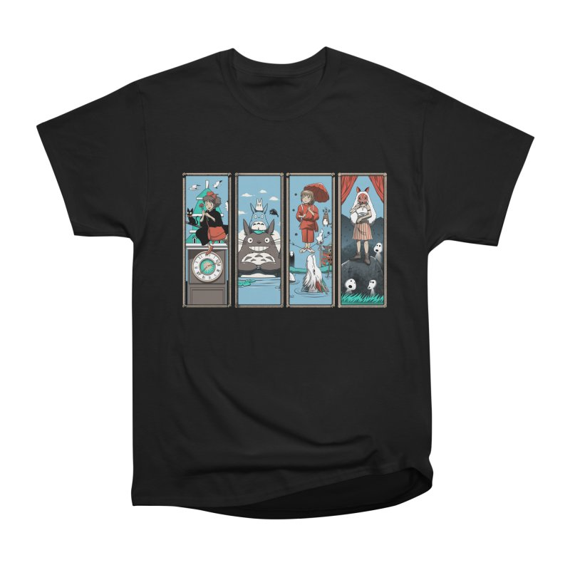 Haunted Anime Mansion Women's Heavyweight Unisex T-Shirt by vincenttrinidad's Artist Shop