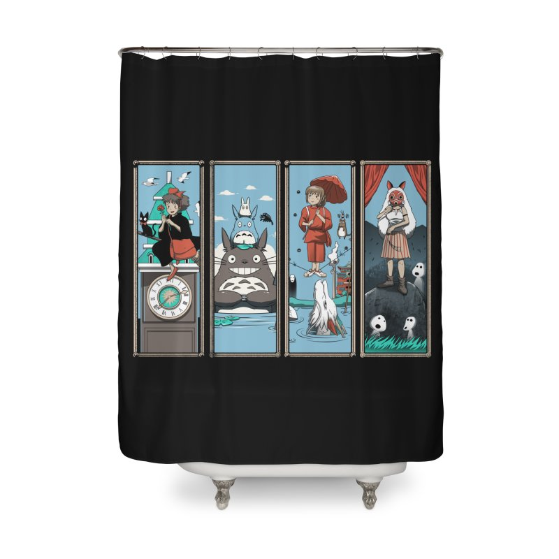 Haunted Anime Mansion Home Shower Curtain by vincenttrinidad's Artist Shop