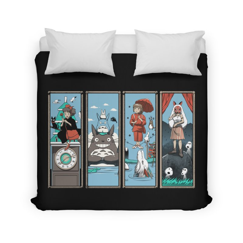 Haunted Anime Mansion Home Duvet by vincenttrinidad's Artist Shop