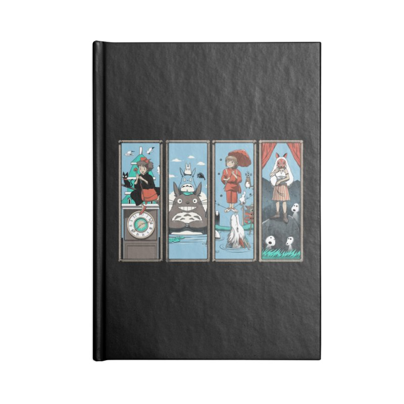 Haunted Anime Mansion Accessories Notebook by vincenttrinidad's Artist Shop