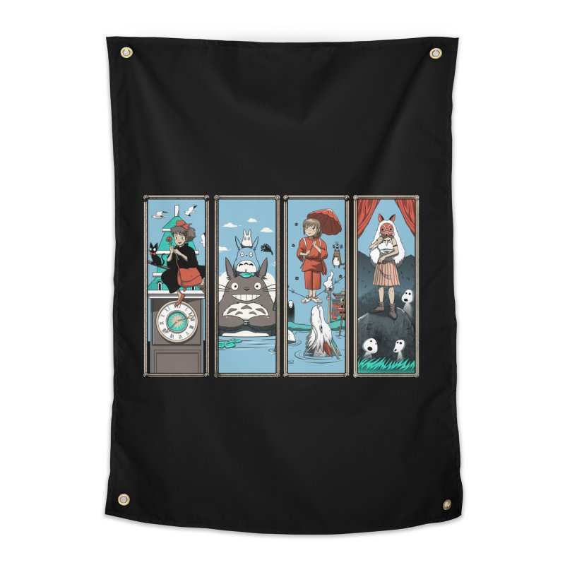 Haunted Anime Mansion Home Tapestry by vincenttrinidad's Artist Shop