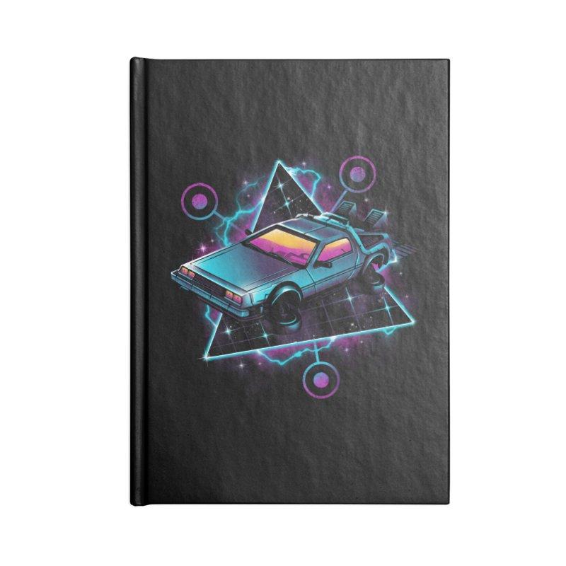 Retro Wave Time Machine Accessories Notebook by vincenttrinidad's Artist Shop