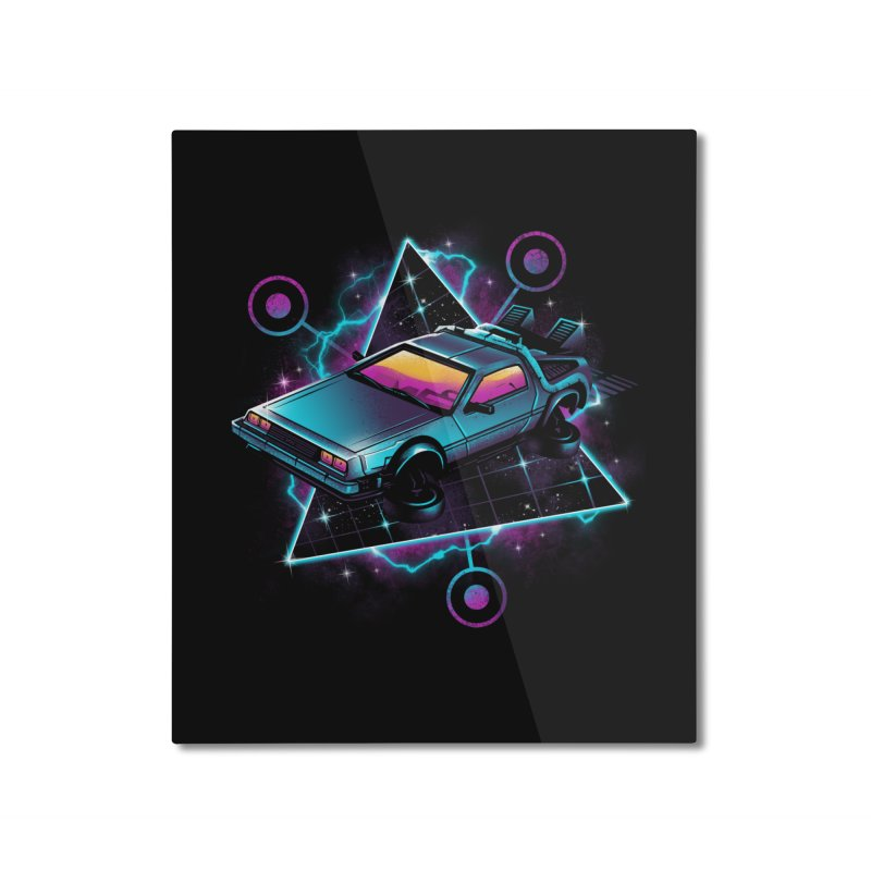Retro Wave Time Machine Home Mounted Aluminum Print by vincenttrinidad's Artist Shop