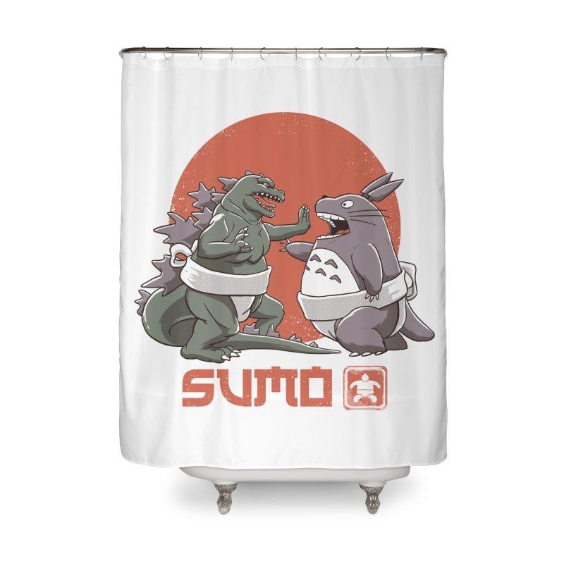 Sumo Pop Home Shower Curtain by vincenttrinidad's Artist Shop