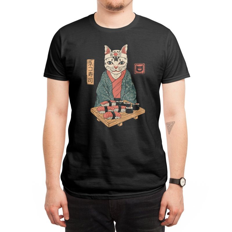 Neko Sushi Bar Men's T-Shirt by Vincent Trinidad Art