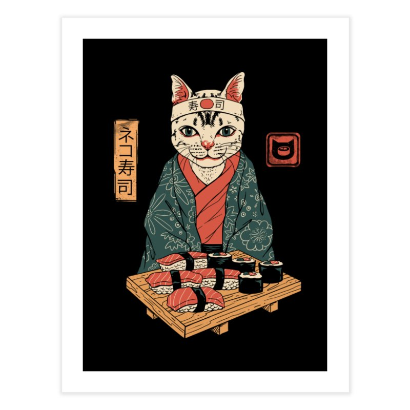 Neko Sushi Bar Home Bath Mat by vincenttrinidad's Artist Shop