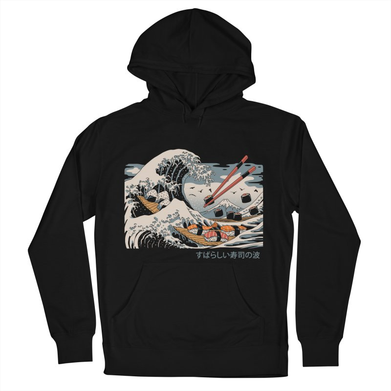 The Great Sushi Wave Men's French Terry Pullover Hoody by vincenttrinidad's Artist Shop