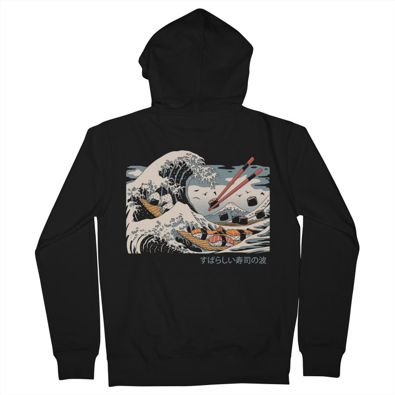 The Great Sushi Wave Men's French Terry Zip-Up Hoody by vincenttrinidad's Artist Shop
