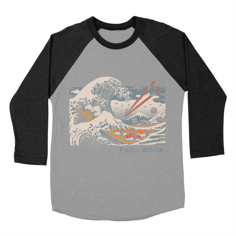 The Great Sushi Wave Women's Baseball Triblend Longsleeve T-Shirt by vincenttrinidad's Artist Shop