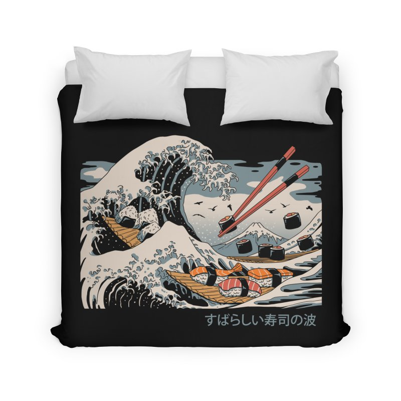 The Great Sushi Wave in Duvet by Vincent Trinidad Art