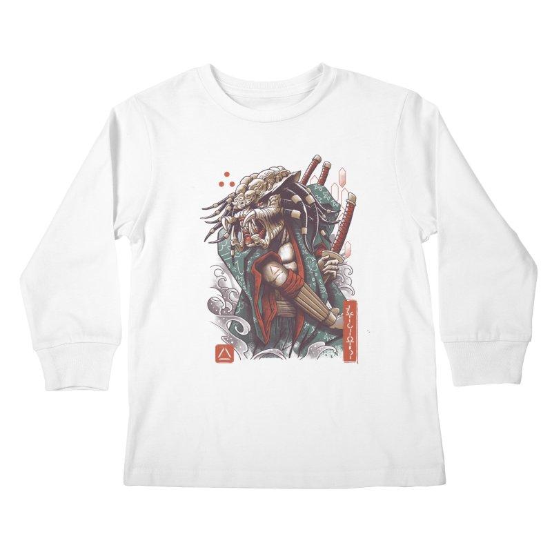 Samurai Predator Kids Longsleeve T-Shirt by vincenttrinidad's Artist Shop
