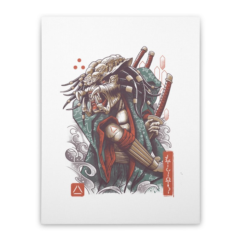 Samurai Predator Home Stretched Canvas by vincenttrinidad's Artist Shop