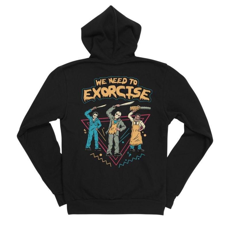 Let's Exorcise! Men's Sponge Fleece Zip-Up Hoody by vincenttrinidad's Artist Shop