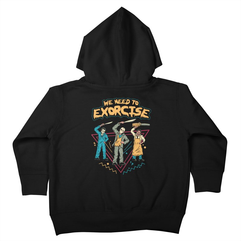 Let's Exorcise! Kids Toddler Zip-Up Hoody by vincenttrinidad's Artist Shop