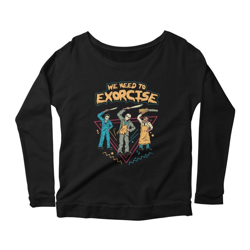 Let's Exorcise! Women's Scoop Neck Longsleeve T-Shirt by vincenttrinidad's Artist Shop