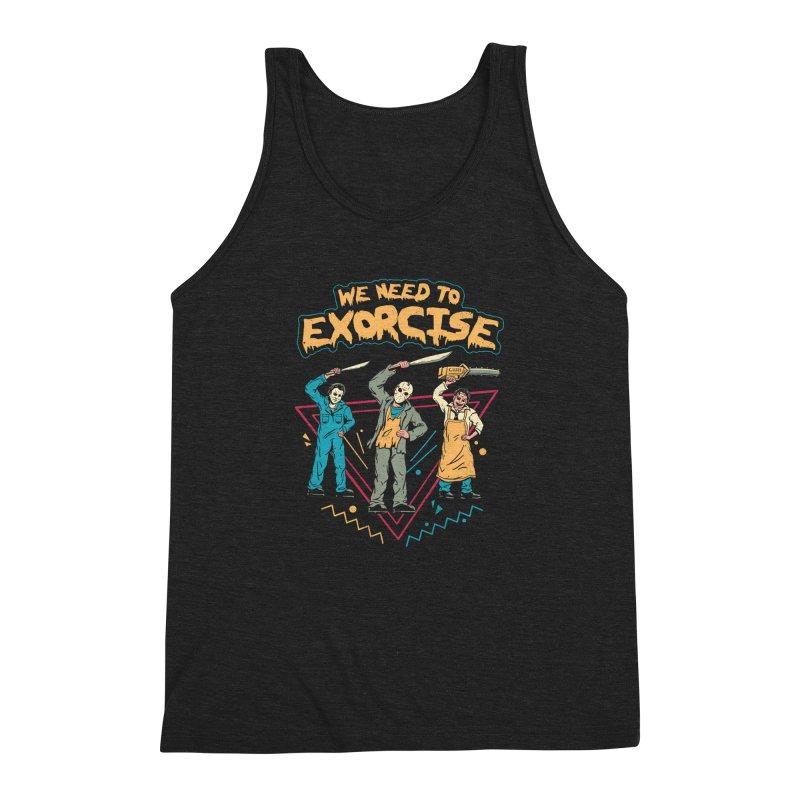 Let's Exorcise! Men's Triblend Tank by vincenttrinidad's Artist Shop