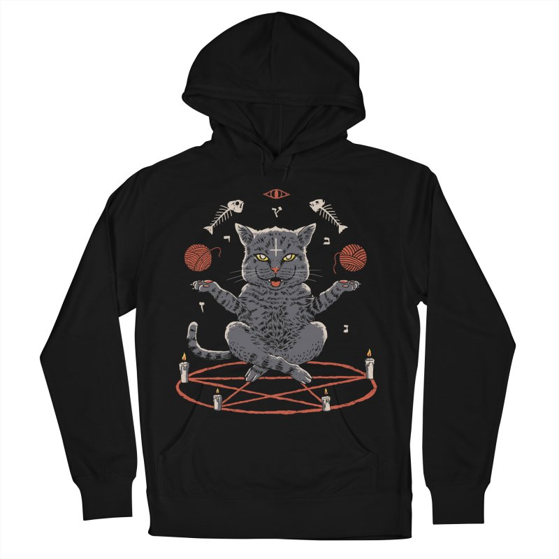 Devious Cat Men's French Terry Pullover Hoody by vincenttrinidad's Artist Shop