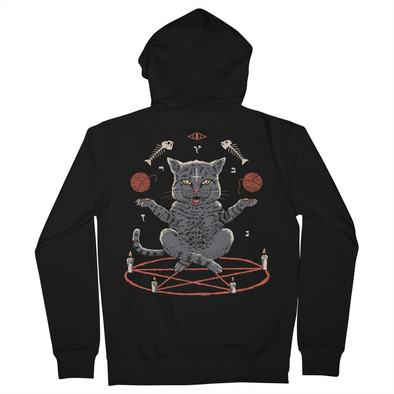 Devious Cat Men's French Terry Zip-Up Hoody by vincenttrinidad's Artist Shop