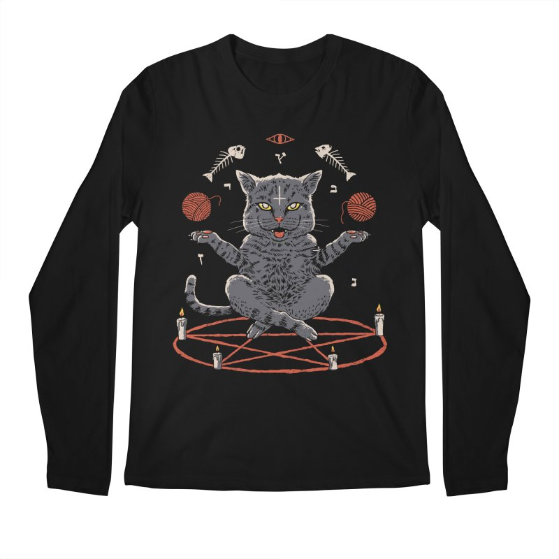 Devious Cat Men's Regular Longsleeve T-Shirt by vincenttrinidad's Artist Shop