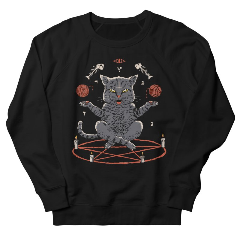 Devious Cat Men's French Terry Sweatshirt by vincenttrinidad's Artist Shop